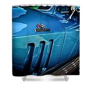 Pale Blue Rider -2 Shower Curtain