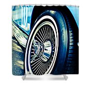 Pale Blue Rider Shower Curtain