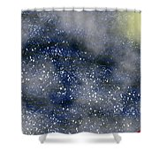 Pale Moon At Sea Shower Curtain