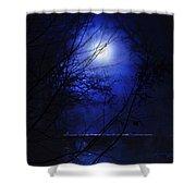 Pale Moon Shower Curtain