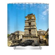Palenque Palace Tower Shower Curtain