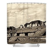 Palenque Panorama Sepia Shower Curtain