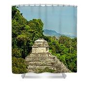 Palenque Temple Shower Curtain