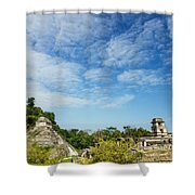Palenque Temples Shower Curtain