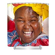 Palenquera In Cartagena Colombia Shower Curtain