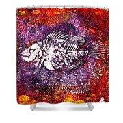 Paleo Fish Shower Curtain