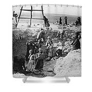 Palestine Archeology Shower Curtain