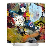 Palette Abstract Shower Curtain