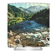 Palisades Creek  Shower Curtain