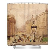 Pall Mall From The National Gallery Shower Curtain