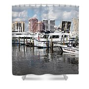 Palm Beach Docks Shower Curtain