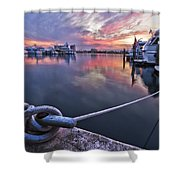 Palm Beach Harbor Shower Curtain