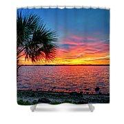 Palm Beach Sunset Shower Curtain