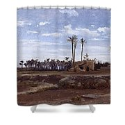 Palm Forest In Elche Shower Curtain