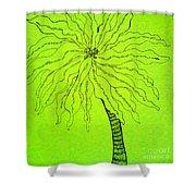 Palm Green Shower Curtain
