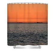 Palm Harbor Sunset Shower Curtain