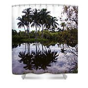 Palm Island I Shower Curtain
