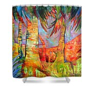 Palm Jungle Shower Curtain