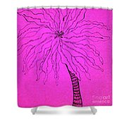Palm Pink Shower Curtain