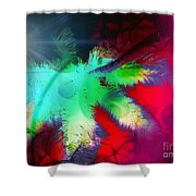 Palm Prints Shower Curtain