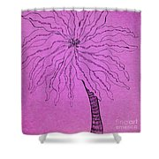 Palm Purple Shower Curtain