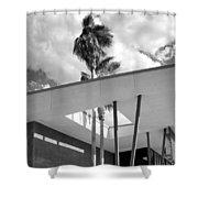 Palm Springs Animal Shelter Palms Bw Palm Springs Shower Curtain