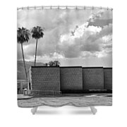 Palm Springs City Hall Bw Palm Springs Shower Curtain