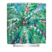 Palm Tree By Jan Marvin Shower Curtain