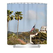 Palm Tree Flag Shower Curtain