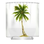 Palm Tree Number 4 Shower Curtain