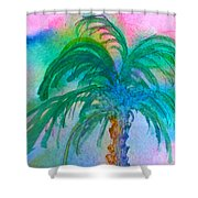 Palm Tree Study Shower Curtain
