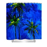 Palm Trees Abstract Shower Curtain by Patricia Awapara