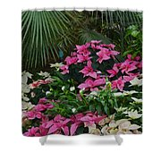 Palms And Flowers Shower Curtain