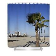 Palm Trees At Long Beach California Shower Curtain
