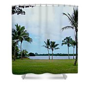 Palm Trees In Oahu Shower Curtain