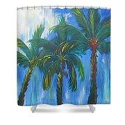Palm Trio Shower Curtain