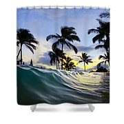 Palm Wave Shower Curtain