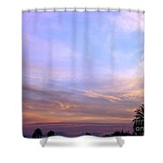 Palms In Shadow Of Sunset Shower Curtain