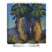 Palms With Skirts Shower Curtain
