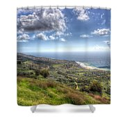 Palos Verdes Peninsula Hdr Shower Curtain by Heidi Smith