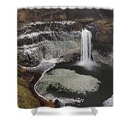 Palouse Falls In Winter Shower Curtain