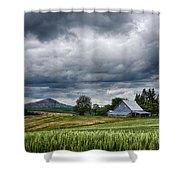 Palouse Farm And Steptoe Butte Shower Curtain