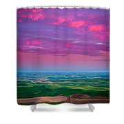 Palouse Fiery Dawn Shower Curtain