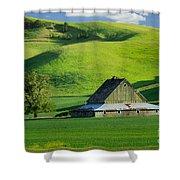 Palouse Grey Barn Shower Curtain
