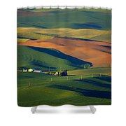 Palouse - Washington - Farms - 1 Shower Curtain by Nikolyn McDonald