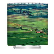 Palouse - Washington - Farms - 4 Shower Curtain