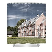 Palsjo Slott In Helsingborg Evening Shower Curtain