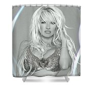 Pamela Anderson - Angel Rays Of Light Shower Curtain