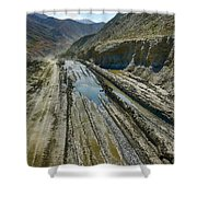 Pamir Alay Road Shower Curtain