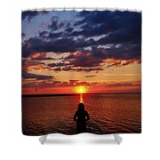 Pamlico Sound Hatteras Island Sunset 3 5/10 Shower Curtain